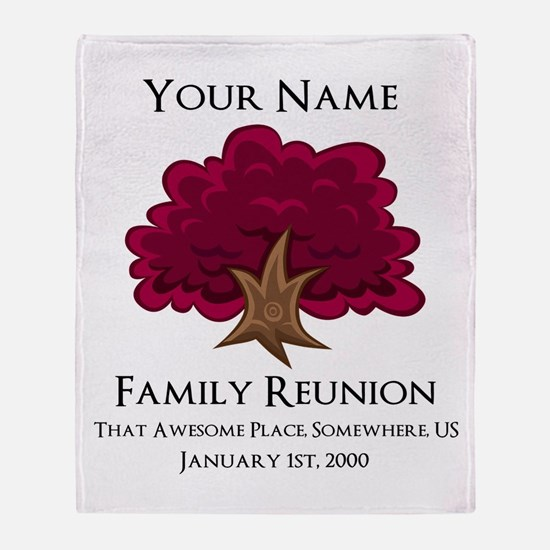 Purple Tree Family Reunion Throw Blanket