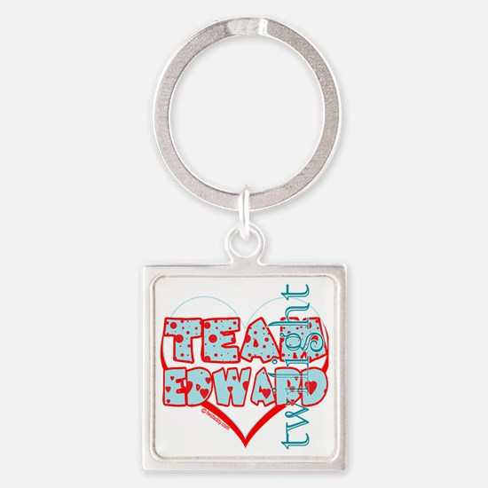 team edward dots and hearts by twi Square Keychain