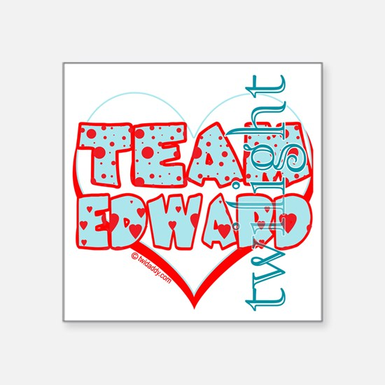 "team edward dots and hearts Square Sticker 3"" x 3"""