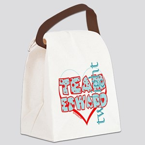 team edward dots and hearts by tw Canvas Lunch Bag