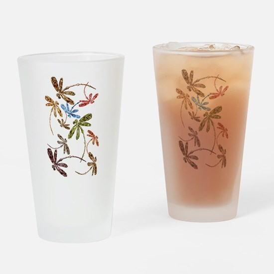 Dragonfly Pop Drinking Glass