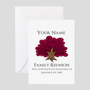 Purple Tree Family Reunion Greeting Cards