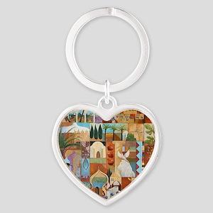 JERUSALEM Heart Keychain