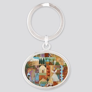 JERUSALEM Oval Keychain