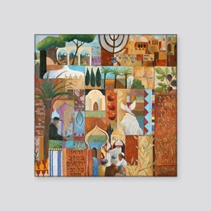 "JERUSALEM Square Sticker 3"" x 3"""