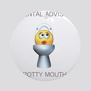 2-potty_mouth Round Ornament