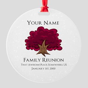 Purple Tree Family Reunion Ornament