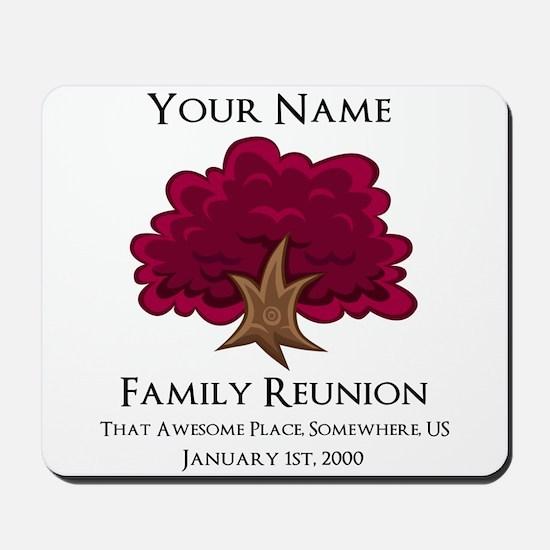 Purple Tree Family Reunion Mousepad