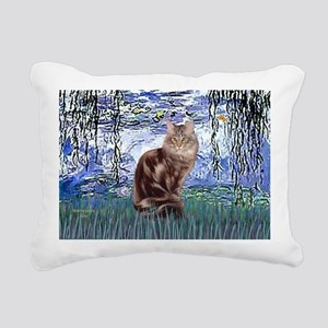 Lilies 6 - Maine Coon ca Rectangular Canvas Pillow