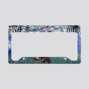 Lilies 6 - Maine Coon cat 10 License Plate Holder