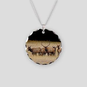 Elk 9x12 Necklace Circle Charm