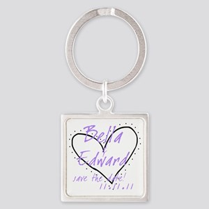 red_purple_black Square Keychain