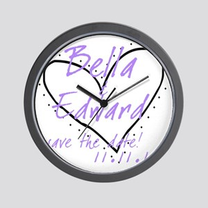 red_purple_black Wall Clock