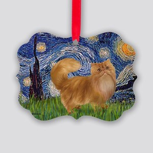 Starry Night - Red Persian cat Picture Ornament