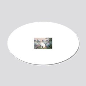 By the Seine - Turkish Van c 20x12 Oval Wall Decal