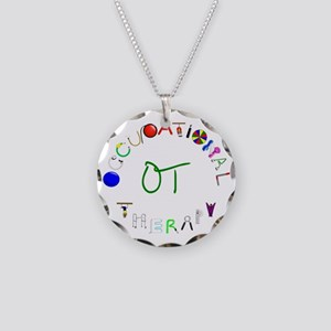 OT3 green Necklace Circle Charm