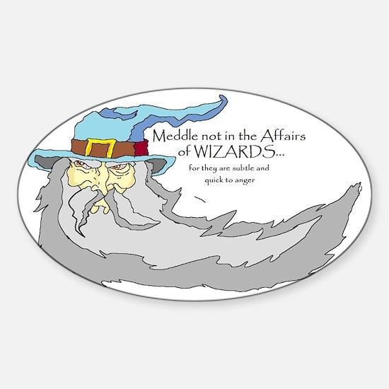 wizard Sticker (Oval)