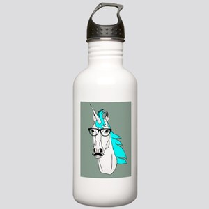 Hipster Unicorn Funny Humor Kawaii Water Bottle