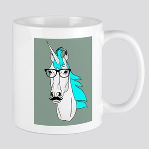 Hipster Unicorn Funny Humor Kawaii Mugs