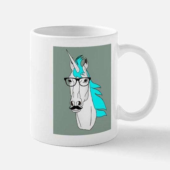 Hipster Unicorn Funny Humor Kawaii Mugs