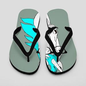 dafc3892a Hipster Unicorn Funny Humor Kawaii Flip Flops