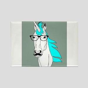Hipster Unicorn Funny Humor Kawaii Magnets