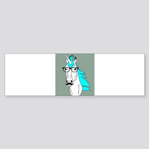 Hipster Unicorn Funny Humor Kawaii Bumper Sticker