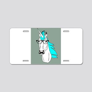 Hipster Unicorn Funny Humor Kawaii Aluminum Licens