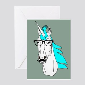Funny unicorn greeting cards cafepress hipster unicorn funny humor kawaii greeting cards m4hsunfo