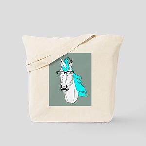 Hipster Unicorn Funny Humor Kawaii Tote Bag
