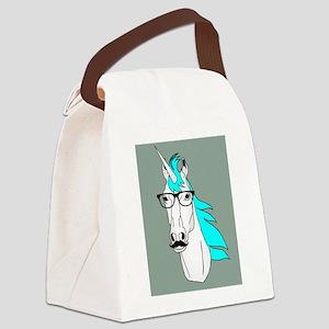 Hipster Unicorn Funny Humor Kawaii Canvas Lunch Ba