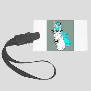 Hipster Unicorn Funny Humor Kawaii Luggage Tag