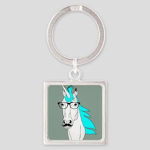 Hipster Unicorn Funny Humor Kawaii Keychains