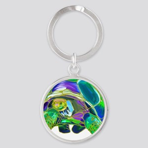 Tortoise1 Round Keychain