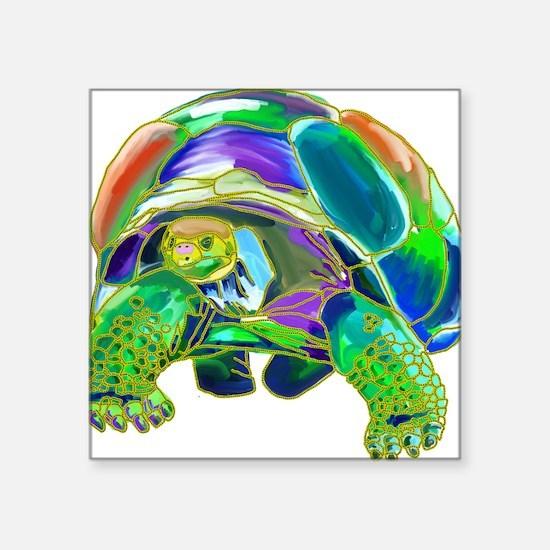 "Tortoise1 Square Sticker 3"" x 3"""