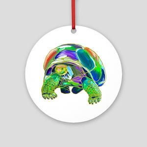 Tortoise1 Round Ornament
