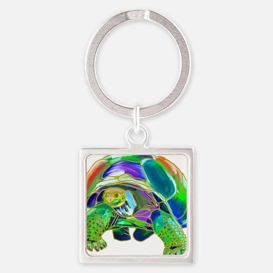 Tortoise1 Square Keychain