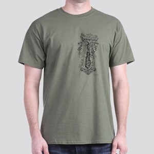 Scateboard Style Sax Dark T-Shirt