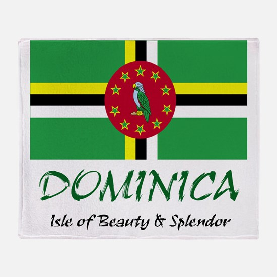 2-dominica Throw Blanket