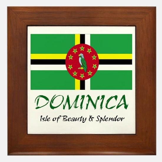 2-dominica Framed Tile