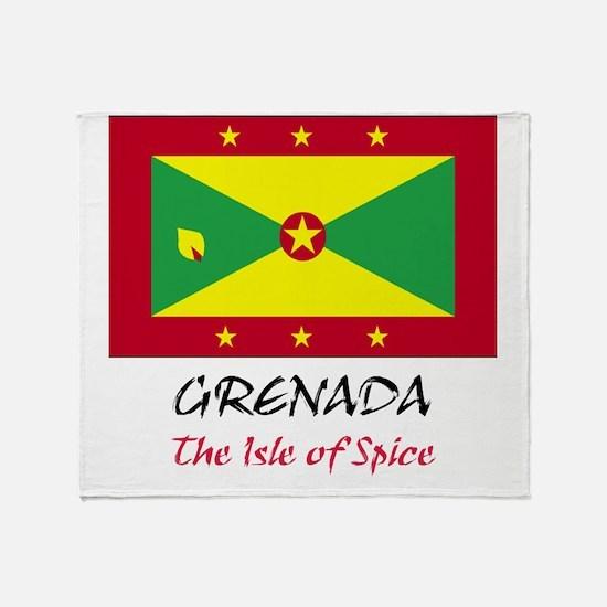 2-grenada Throw Blanket