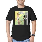 Ask Abe Men's Fitted T-Shirt (dark)