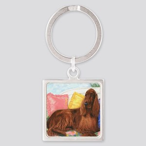 Irish Setter Dog Square Keychain