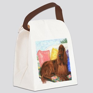 Irish Setter Dog Canvas Lunch Bag