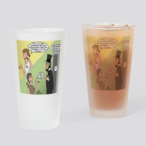 Ask Abe Drinking Glass