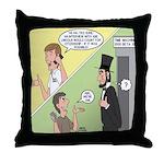 Ask Abe Throw Pillow