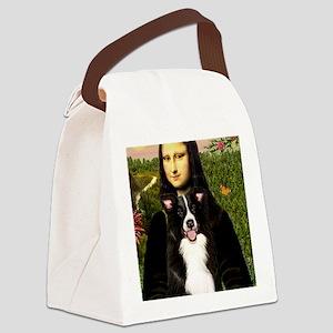 MP-Mona Lisa - Border C - redone Canvas Lunch Bag