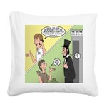 Ask Abe Square Canvas Pillow