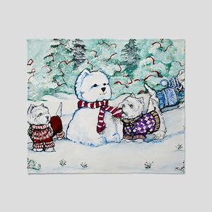 Christmas Card 1 Throw Blanket
