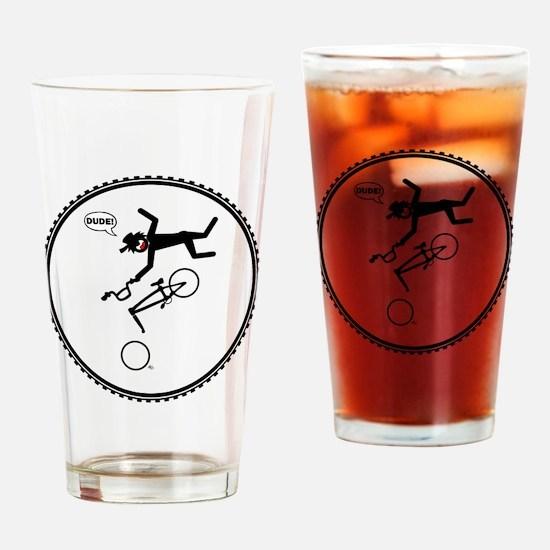 bmx-circle-R4w Drinking Glass